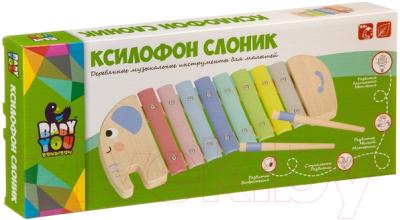 Музыкальная игрушка Bondibon Ксилофон Слоник / ВВ4014