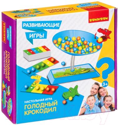 Развивающая игра Bondibon Голодный крокодил / ВВ4176