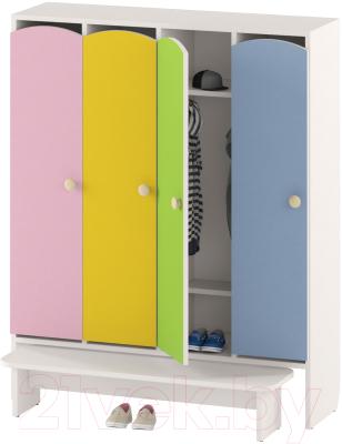 Шкаф для детской одежды Славянская столица ДУ-ШР4-1