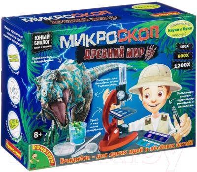 Детский микроскоп Bondibon Французские опыты. Науки с Буки. Микроскоп. Динозавры/ ВВ4201