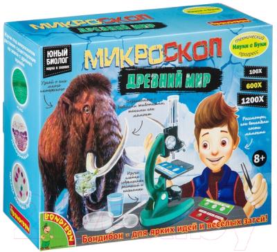 Детский микроскоп Bondibon Французские опыты. Науки с Буки. Микроскоп. Мамонты / ВВ4202