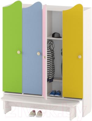 Шкаф для детской одежды Славянская столица ДУ-ШР4-2