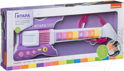 Музыкальная игрушка Bondibon Электрогитара с микрофоном / ВВ4396
