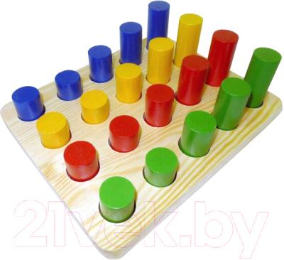 Развивающая игрушка RNToys Цилиндры-втыкалки. 4 ряда / Д-671