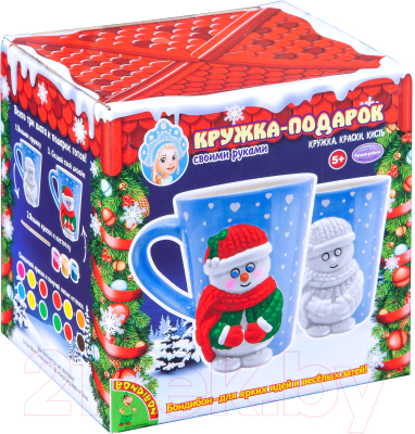 Набор для творчества Bondibon Кружка-подарок. Снеговичок / ВВ4700