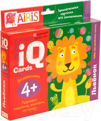 Развивающие карточки Айрис-пресс Львенок 4+