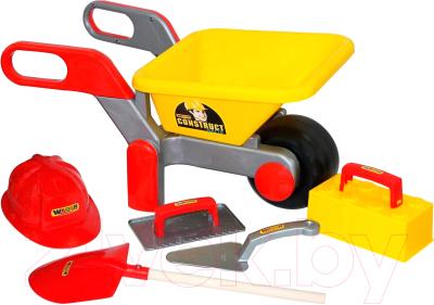 Тачка игрушечная Полесье Детская тачка №4 Construct с набором каменщика №4 / 50229
