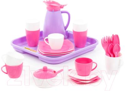 Набор игрушечной посуды Полесье Алиса на 4 персоны Pretty Pink / 40657