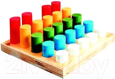 Развивающая игрушка RNToys Цилиндры-втыкалки. 5 рядов / Д-034