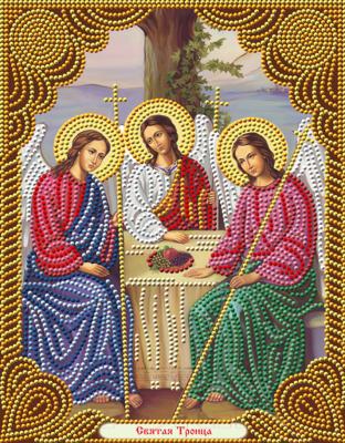 Набор алмазной вышивки Алмазная живопись Икона Святая Троица / АЖ-5041