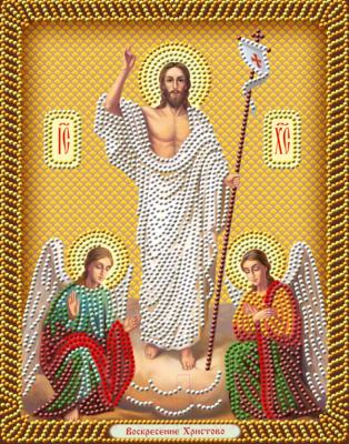 Набор алмазной вышивки Алмазная живопись Икона Воскресение Христово / АЖ-5050