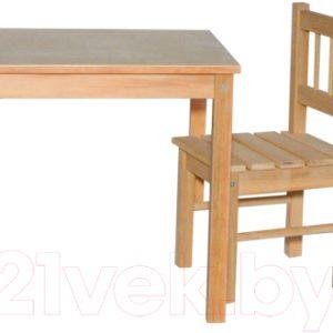 Комплект мебели с детским столом ВудГрупп 50x50x50 и 1 стульчиком