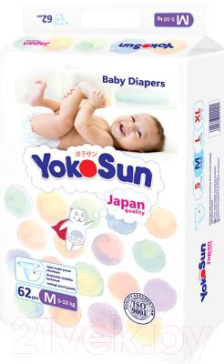 Подгузники детские YokoSun На липучках размер М 5-10кг