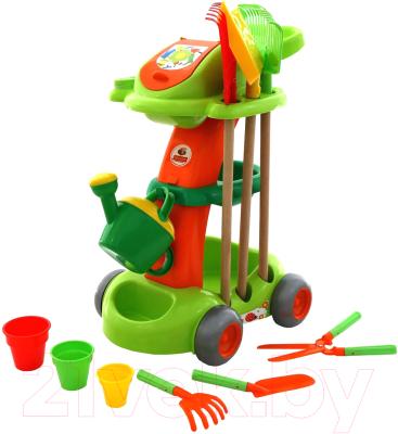 Тележка с инструментами игрушечная Полесье Садовый / 54548