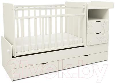 Детская кровать-трансформер СКВ Жираф / 550031 / 550041