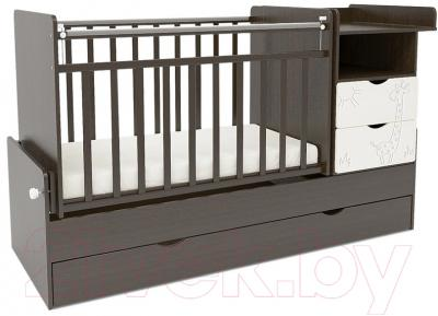 Детская кровать-трансформер СКВ Жираф / 550038-1 / 550048-1