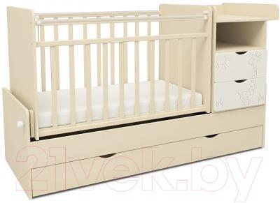 Детская кровать-трансформер СКВ Жираф / 550039-1 / 550049-1