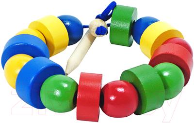 Развивающая игрушка RNToys Бусы геометрические цветные / Д-568
