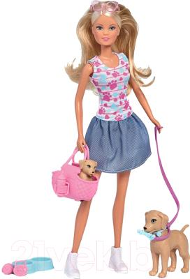 Кукла с аксессуарами Simba Штеффи Прогулка с питомцами / 5733310