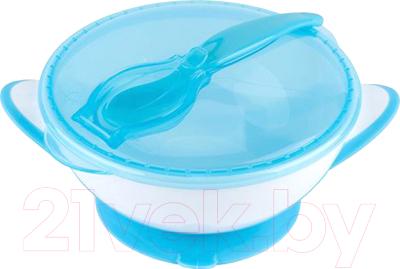 Набор детской посуды BabyOno Миска с присоской и ложкой 6м+ / 1063