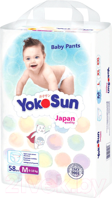 Подгузники-трусики детские YokoSun М от 6 до 10кг
