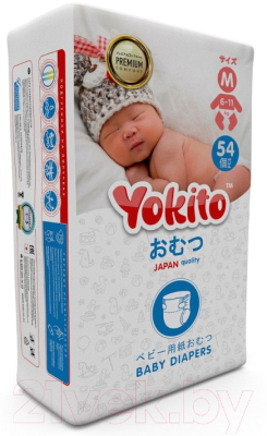 Подгузники детские Yokito На липучках размер М 6-11кг