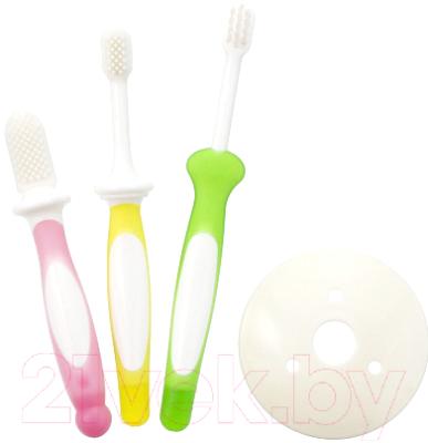 Набор зубных щеток для новорожденных Pigeon 6-18мес 10515/10541