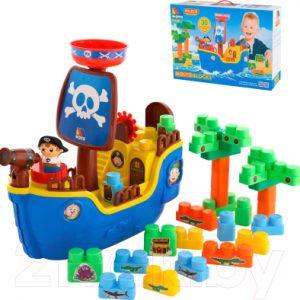 Конструктор Полесье Пиратский корабль с конструктором / 62246