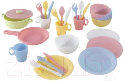 Набор игрушечной посуды KidKraft Пастель / 63027-KE