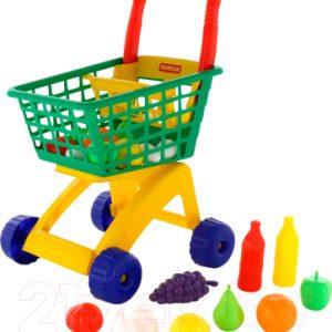 Тележка игрушечная Полесье №6 с набором продуктов / 61904