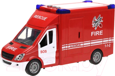 Фургон игрушечный JinJia Toys Пожарная машина / 666-08P
