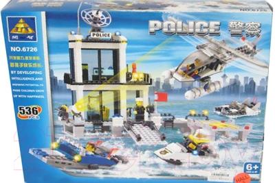 Конструктор Kazi Полицейский участок на воде 6726