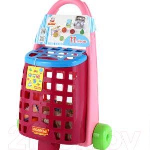 Тележка игрушечная Полесье Забавная с набором продуктов / 67944