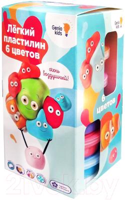 Набор для лепки Genio Kids Лёгкий пластилин 6 цветов / TA1715