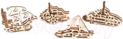 Сборная игрушка Ugears Корабли / 70035