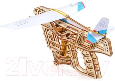 Сборная игрушка Ugears Пускатель самолетиков / 70075