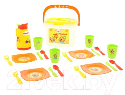 Набор игрушечной посуды Полесье Пикник. Три кота / 72948