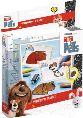 Набор для творчества Totum Витражные краски Тайная жизнь домашних животных / 760004