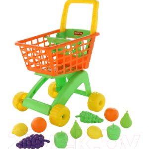 Тележка игрушечная Полесье №7 с набором продуктов / 61911