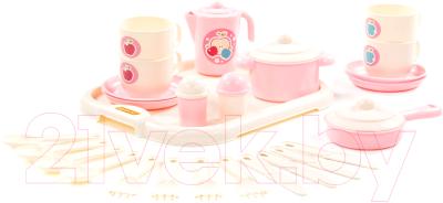 Набор игрушечной посуды Полесье Хозяюшка с подносом  / 80479