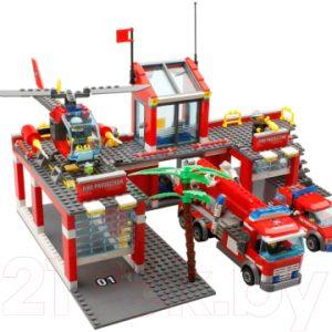 Конструктор Kazi Большая пожарная станция 8051