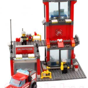 Конструктор Kazi Малая пожарная станция 8052