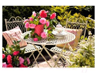 Набор для творчества РЫЖИЙ КОТ Холст с красками. Розовые цветочки в саду / Х-9214