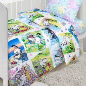 Комплект постельный в кроватку АртПостель Мурзик 922