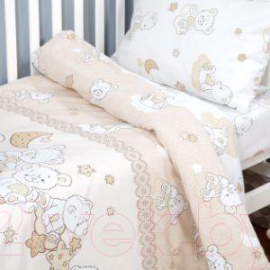 Комплект постельный в кроватку АртПостель Медвежата 922