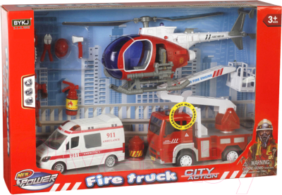 Набор игрушечной техники Maya Toys Пожарная служба / 9929C