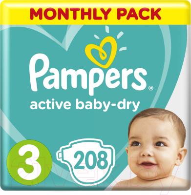 Подгузники детские Pampers Active Baby-Dry 3 Midi