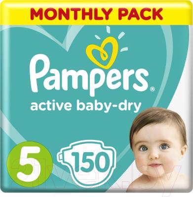 Подгузники детские Pampers Active Baby-Dry 5 Junior