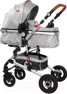 Детская универсальная коляска Lorelli Alba 2 в 1 Light Grey / 10021422061