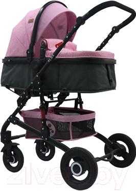 Детская универсальная коляска Lorelli Alba 2 в 1 Pink / 10021422092
